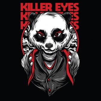 Ilustración de ojos asesinos