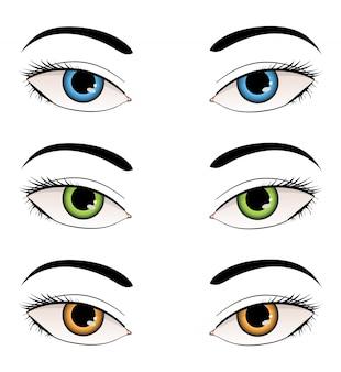 Ilustración de ojos femeninos