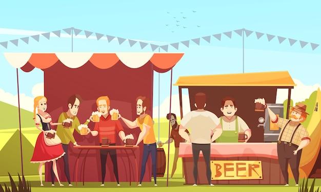 Ilustración de la oktoberfest