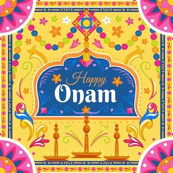 Ilustración de onam indio