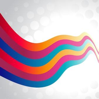 Ilustración de onda colorida