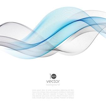 Ilustración de onda de movimiento abstracto