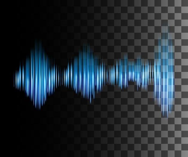 Ilustración de onda de sonido de efecto abstracto