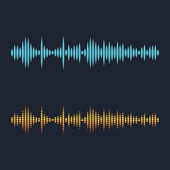 Ilustración de ondas sonoras