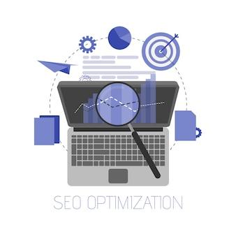 Ilustración de optimización de motor de búsqueda