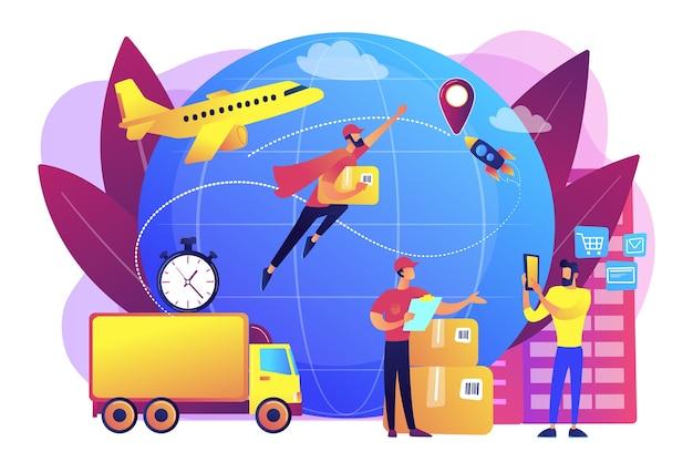Ilustración de orden de transporte de mensajero