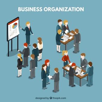 Ilustración de organización empresarial