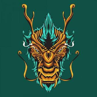 Ilustración ornamental de dragón