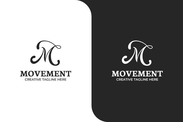 Ilustración ornamental del logotipo de la letra m