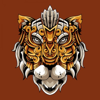 Ilustración ornamental de tigre