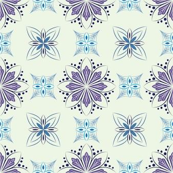 Ilustración de ornamento de fondo abstracto. patrones sin fisuras con flores
