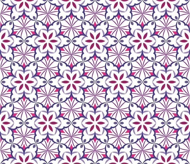 Ilustración de ornamento de fondo abstracto, patrones sin fisuras con flores