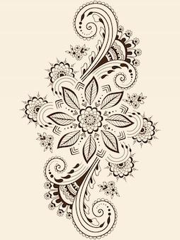 Ilustración del ornamento de mehndi