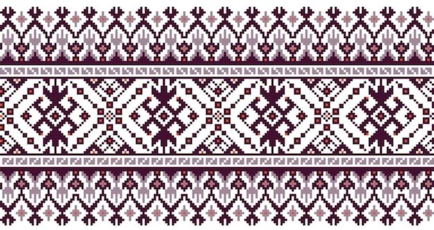 Ilustración del ornamento de patrones sin fisuras folk ucraniano.