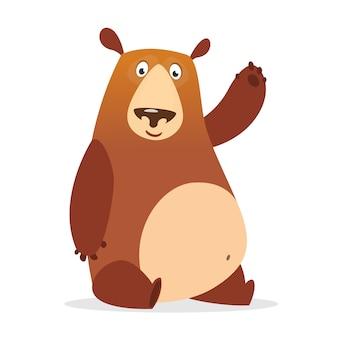 Ilustración de oso de dibujos animados