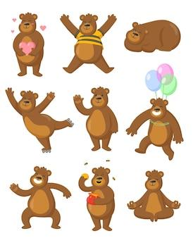 Ilustración de osos pardos