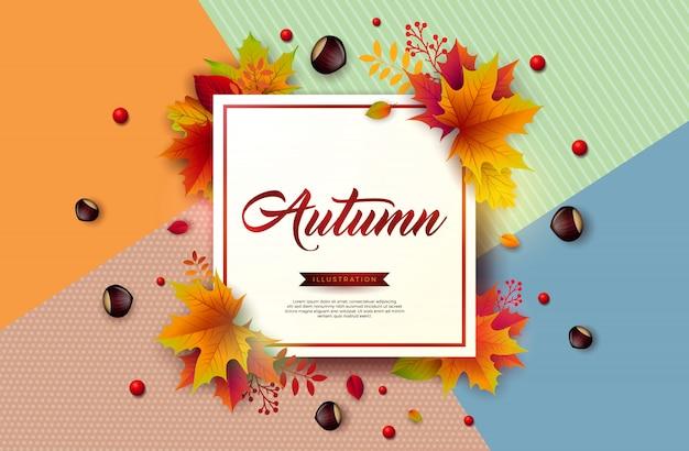 Ilustración de otoño