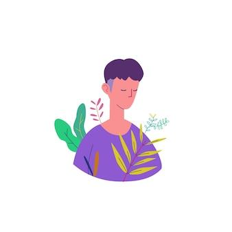Ilustración pacífica concepto de hombre