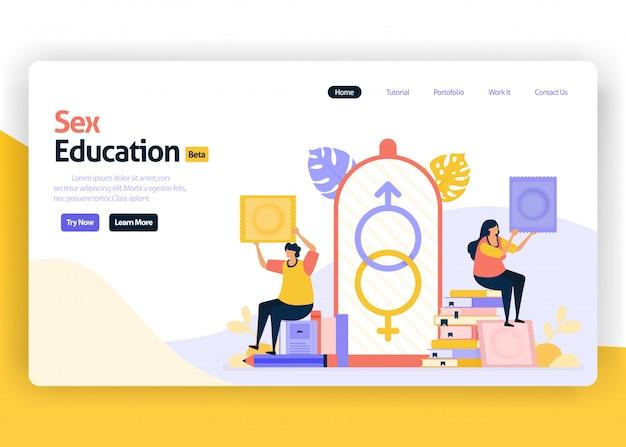 Ilustración de la página de aterrizaje de educación sexual