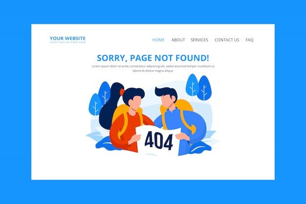 Ilustración de página de error 404 no encontrada