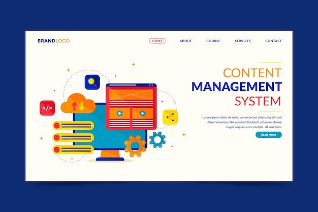 Ilustración de la página de inicio del concepto de cms