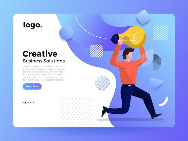 Ilustración de la página del trabajador de conceptos