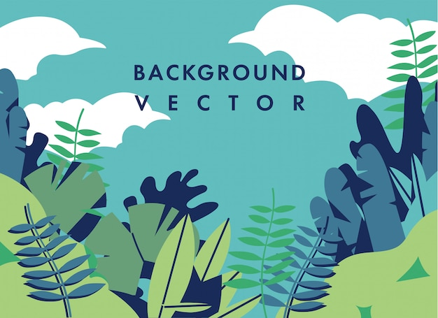 Ilustración de paisaje con colores coloridos - fondo con texto de plantilla. se puede utilizar para carteles, pancartas, folletos, pancartas, páginas web, encabezados, portadas.