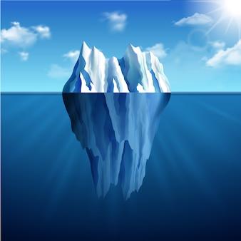 Ilustración de paisaje de iceberg