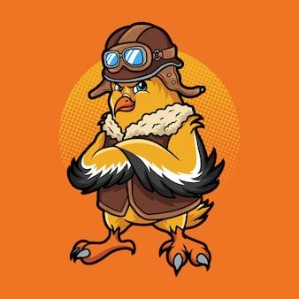 Ilustración de pájaro piloto