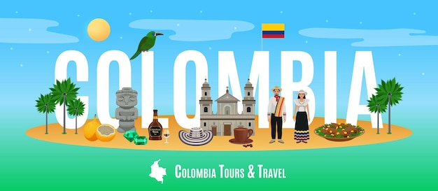 Ilustración de la palabra colombia
