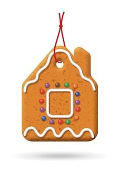 Ilustración de pan de jengibre de navidad