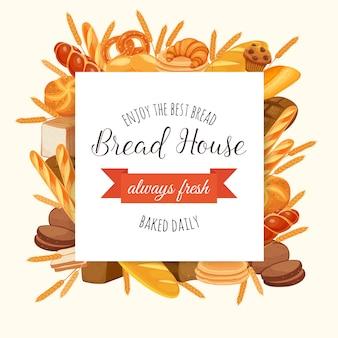 Ilustración de panadería de pan