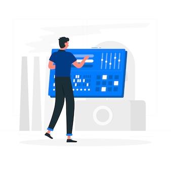Ilustración de panel de control