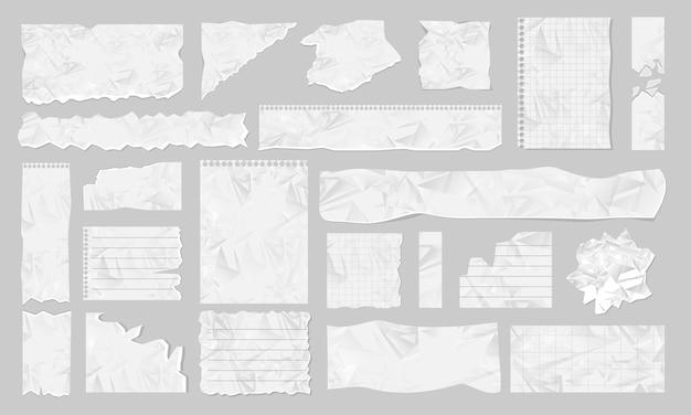 Ilustración de papel rasgado en blanco