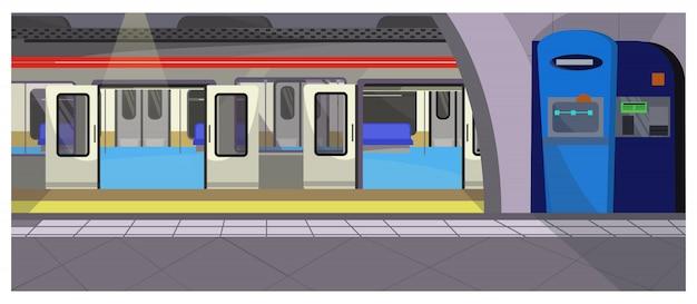 Ilustración de parada de metro
