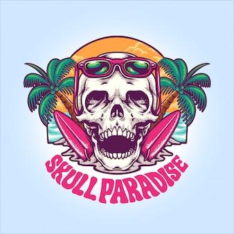 Ilustración del paraíso del cráneo