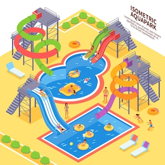 Ilustración del parque acuático