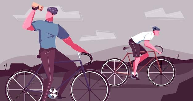 Ilustración de paseo en bicicleta