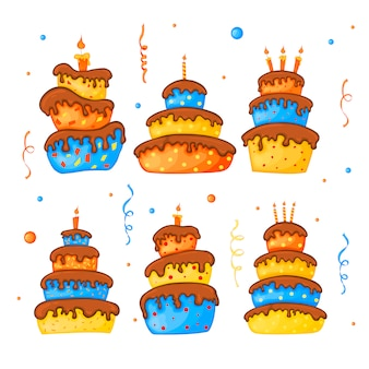 Ilustración de pastel de dibujos animados