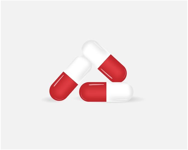 Ilustración de pastillas dispuestas en triángulo
