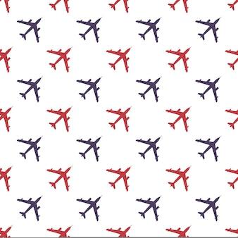 Ilustración de patrón de avión. imagen de estilo creativo y militar.