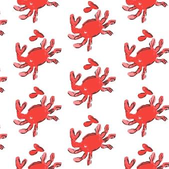 Ilustración de patrón de conchas marinas. fondo marino