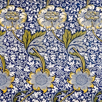 Ilustración de patrón de flor de crisantemo vintage