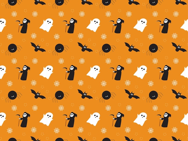 Ilustración de patrón de hallowen