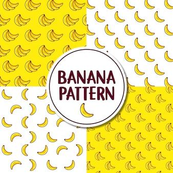 Ilustración de patrón de plátano