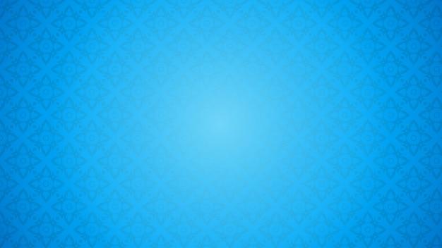 Ilustración de patrón tailandés azul