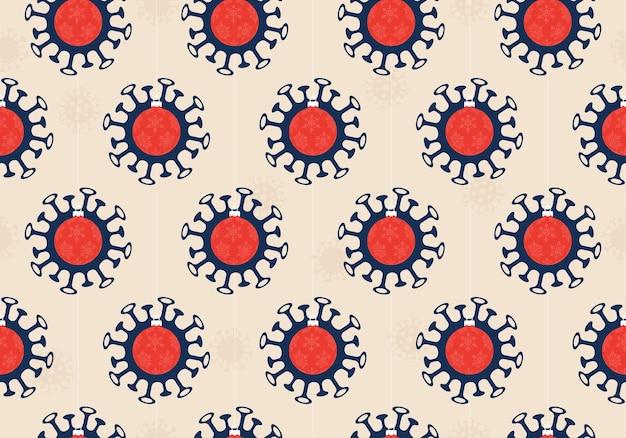 Ilustración de patrones sin fisuras covid de navidad