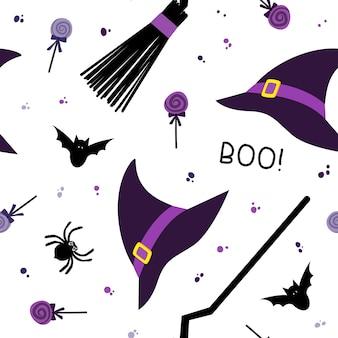 Ilustración de patrones sin fisuras de halloween