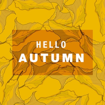 Ilustración de patrones sin fisuras de hoja de otoño