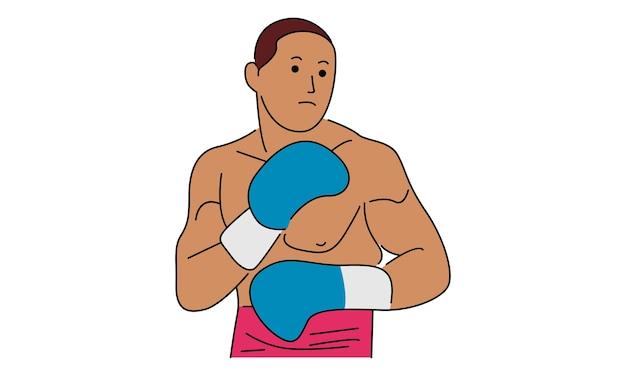 Ilustración de pelea de boxeador